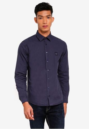 BOSS navy Mypop1 Shirt - Boss Casual AACD9AAB2C1522GS_1