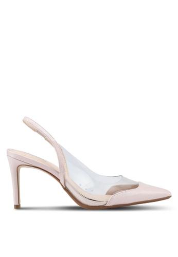 Mango pink See-Through Panels Stilettos Heels DB560SH50E79CFGS_1