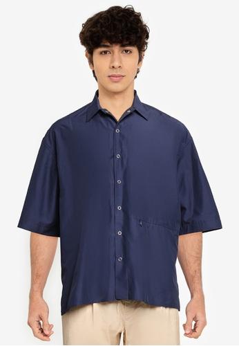 niko and ... blue Solid Coloured Shirt 91E1DAA9D05C45GS_1