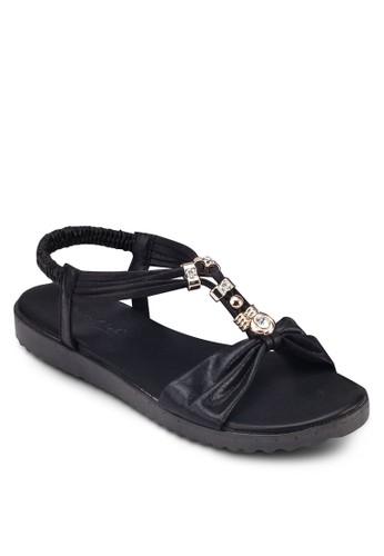 金飾T 字繞踝涼esprit outlet hk鞋, 女鞋, 鞋