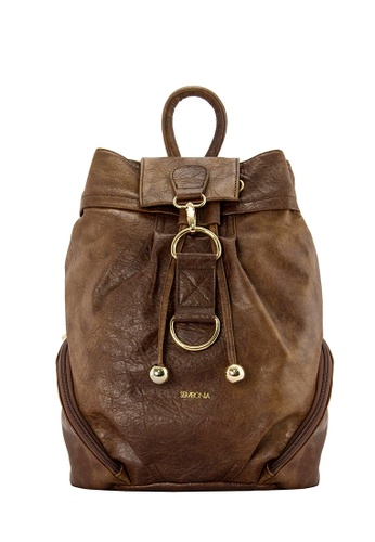 SEMBONIA brown SEMBONIA Synthetic Leather Backpack FFDA9ACD5C8F1AGS_1