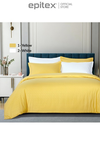 Epitex yellow Epitex Silkysoft 900TC SS8030-01 Yellow Bedsheet - Fitted Sheet Set (w/o quilt cover) 3A991HL0666DB1GS_1