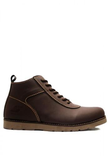 D-Island brown D-Island Shoes Venture Boots Comfort Leather Dark Brown DI594SH65NNEID_1