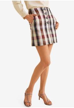 MANGO green Checkered Mini Skirt D20DAAA6CB924BGS 1 27dfbeb5b