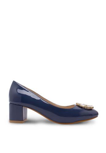 Sepatu Wanita Mid Heel Blue Grey