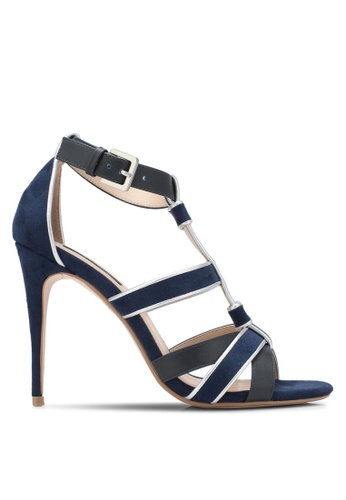 ZALORA navy Strappy Bind High Heels 86570SH6270B45GS_1