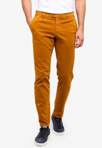 MANGO Man 黃色 奇諾褲長褲 4F912AAF0211E8GS_1