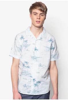 Printed Hawaii Sketch Shirt