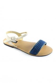 Habi Footwear Luxe Women's Kiss '15 Sandals - Blue/White