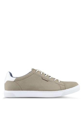 Jack & Jones grey Trent Synthetic Suede Sneakers A0D9FSH7A23C4CGS_1