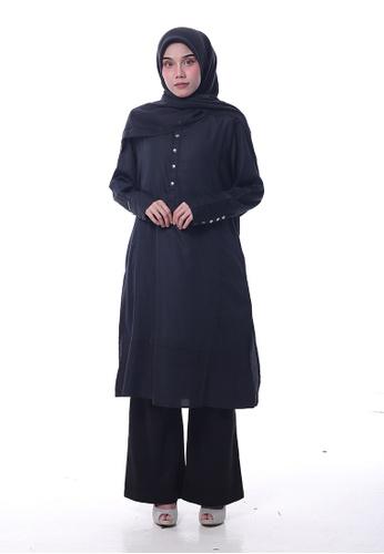 Denai Boutique black Tunic Jasmine With Pants F070AAA26B6362GS_1