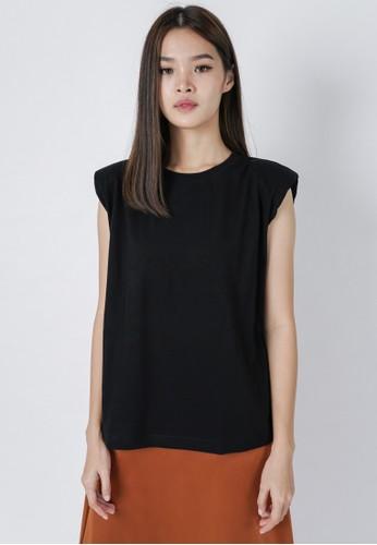 DARA black Gani Padded Shirt in Black 86895AAF5F030AGS_1