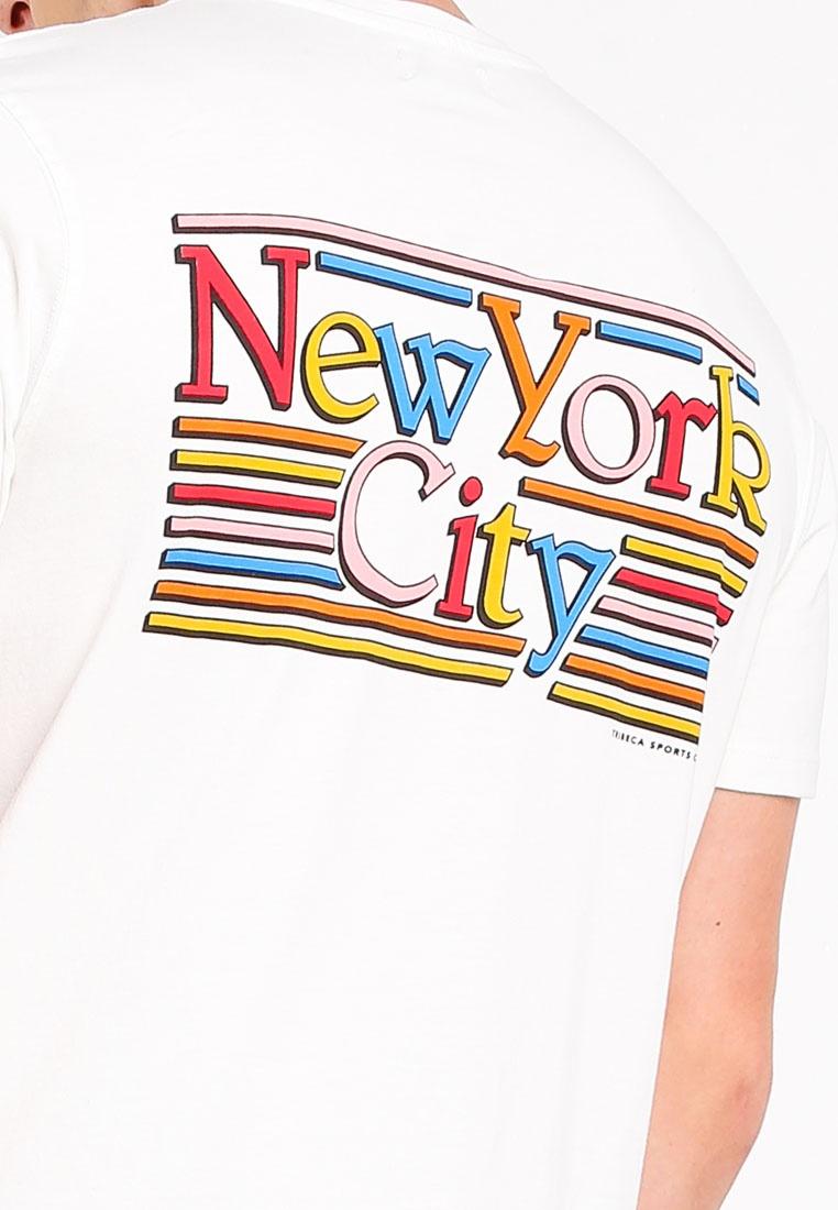 Shirt Topman Ecru T New York Cream OpptA