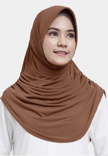 zelena brown Zelena Hijab Sabrina Basic - Mocca 06DD5AA48214B0GS_1