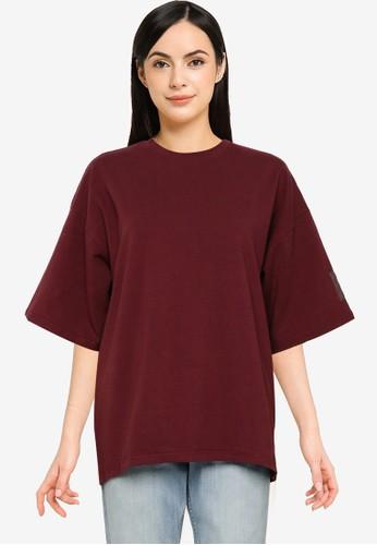 Public Desire red Oversized T-Shirt F118CAA09755CBGS_1
