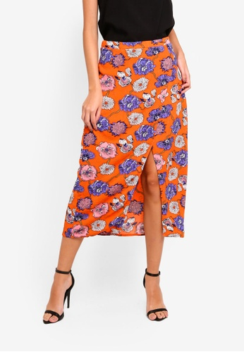 Glamorous multi Floral Print Skirt 7A900AA55343B9GS_1