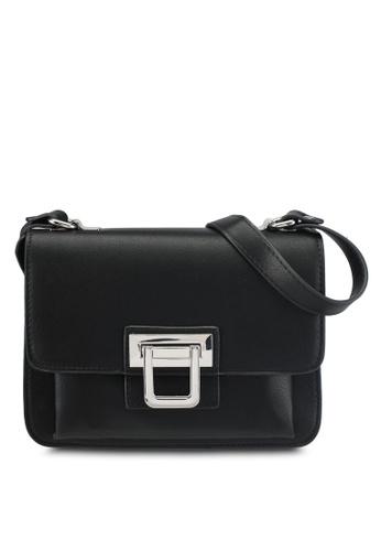 Mango black Buckled Cross-Body Bag 7D485AC5F26A56GS_1