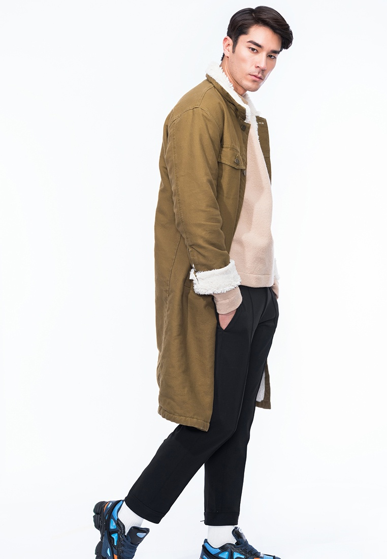Wheat Coat Alpha Shearling Faux Style Tajo Long WH1Y7wfq