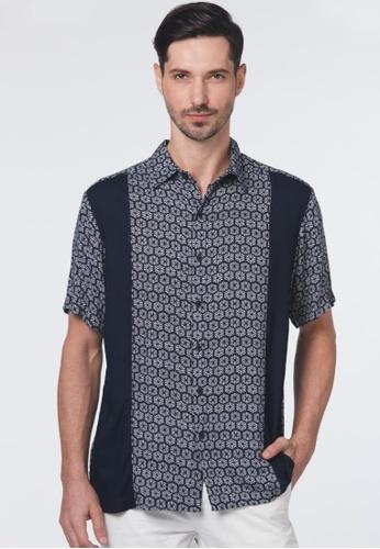 East India Company Alford - Color Block Print Shirt FBE06AACF85215GS_1