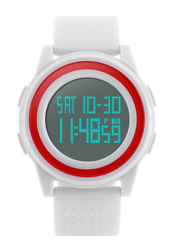 Skmei white SKMEI 1206 Thin Fashion Simple Dial LED Digital Watch (White) SK707AC0RXDDMY_1