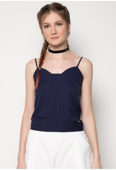 Strappy Sleeveless Top with Side Seam Cut-Outs
