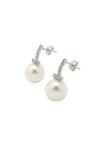 Jaysa Collection silver Palladium Winter Pearl Earrings JA875AC0FNVZSG_1