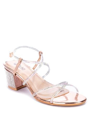 Suki brown Strappy Heels A8D41SHBD216DAGS_1