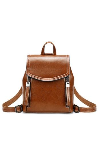 Twenty Eight Shoes brown Vintage Cow Leather Backpack 363-1 D5E95AC7022B6BGS_1