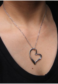 Outline Open Heart Necklace