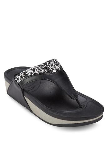 仿鑽夾腳厚底涼鞋, 女鞋,esprit outlet 旺角 鞋