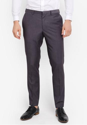 Burton Menswear London grey Skinny Grey Essential Suit Trousers BU964AA0SR8KMY_1
