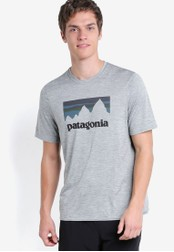 Patagonia grey Cap Daily Graphic T-Shirt PA549AA12WZVMY_1