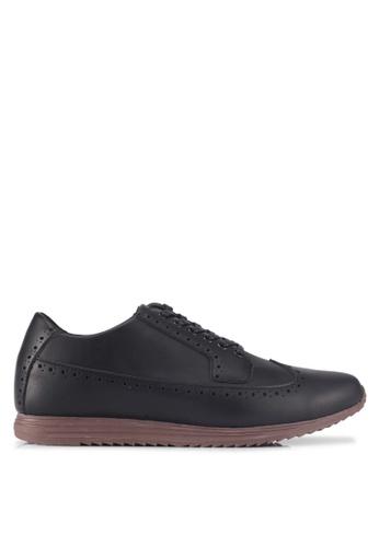 ZALORA black Faux Material Oxford Sneakers 5D169SHA17279BGS_1