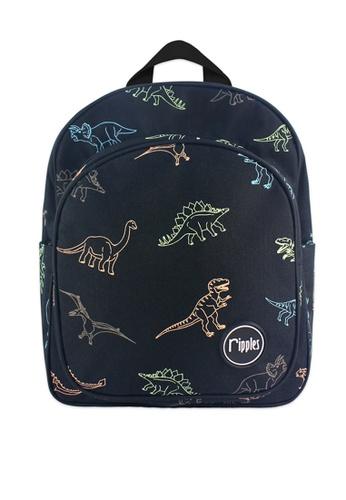 Ripples black Dinosaur Kids Backpack 5BC9EKC83F7B6EGS_1