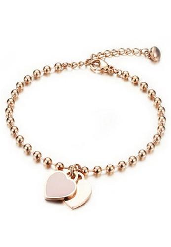 YOUNIQ gold YOUNIQ 18K Rosegold Twice Love Lucky Bracelet 80C8FAC9DE1C9EGS_1