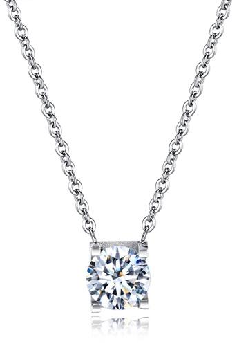 Trendyshop silver CZ Pendant Necklace 2E0B3AC7BE3D56GS_1