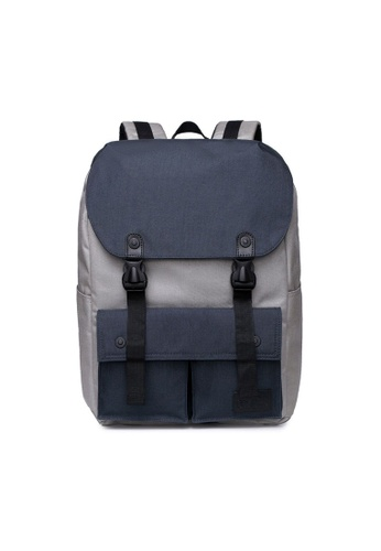 The Dude grey and navy Little Predator Backpack TH373AC79BGQHK_1