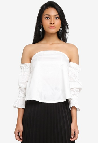 462fbc3f8d497 Shop Preen   Proper Cold Shoulder Bustier Top Online on ZALORA ...