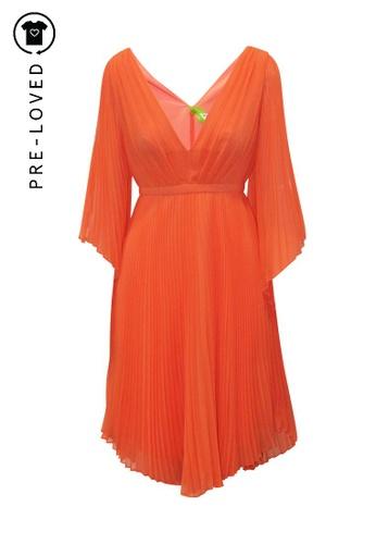 Halston Heritage orange Pre-Loved halston heritage Pleats Dress. AB2BDAA5BAFAEBGS_1