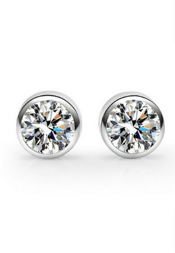 Vivere Rosse silver Bedazzling Stud Earrings VI014AC57LRUMY_1