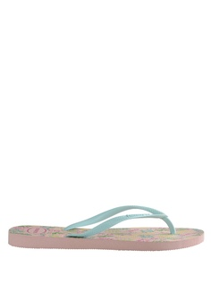 1dccab48b Havaianas pink and blue Slim Romance Flip Flops Slippers F913BSH26EF378GS 1