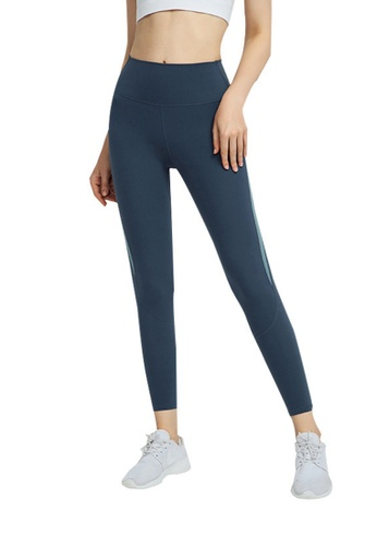 B-Code blue ZWG1104-Lady Quick Drying Running Fitness Yoga Leggings-Blue 7BE91AA15DB809GS_1