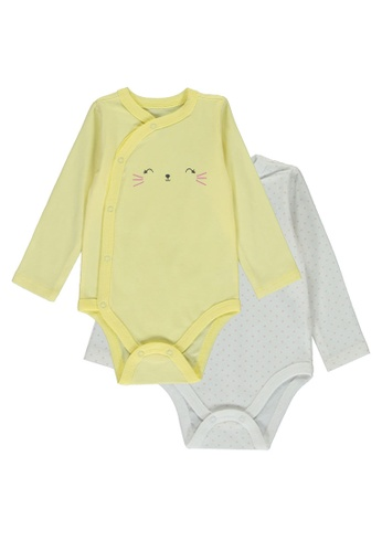 LC Waikiki yellow 2-Pack Newborn Bodysuit 8E82FKA155B20FGS_1