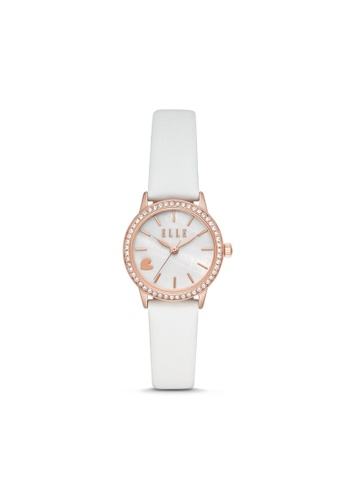 ELLE white ELLE Alma Three-Hand White Leather Watch ELL21032 F4097AC978D7F5GS_1