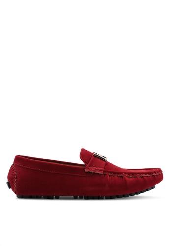 High Cultured red Velvet Loafers-232 74F56SH6265E42GS_1
