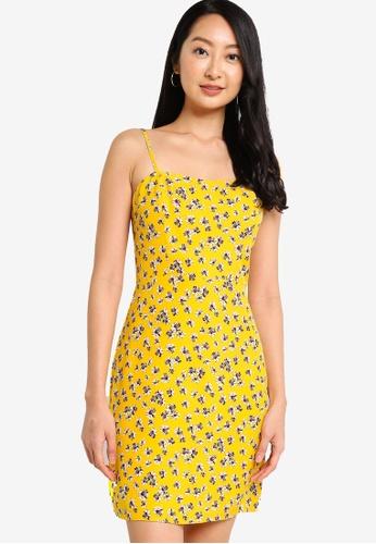 ZALORA BASICS yellow Cami Mini Dress 20F50AA152900AGS_1