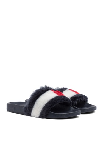 Tommy Hilfiger blue FUNNY FUR POOL SLIDE 8E7C4SH0F16794GS_1