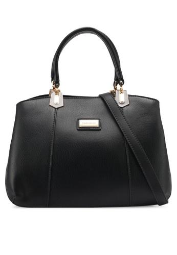 Perllini&Mel black Faux Leather Satchel Top Handle Bag PE444AC0SIZ8MY_1