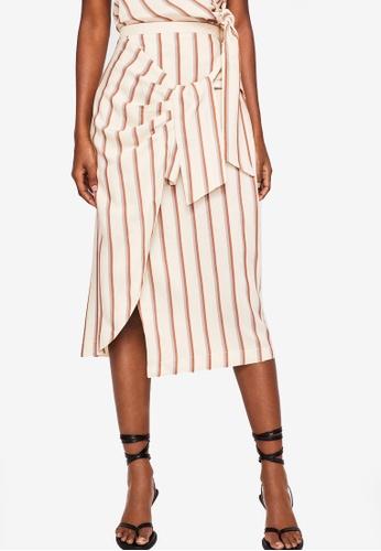 Mango white Striped Bow Skirt 620AFAA059C10AGS_1