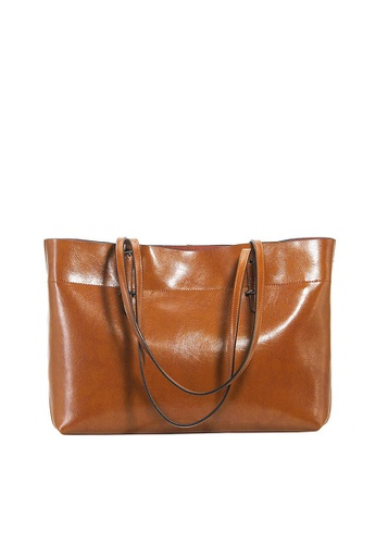 Twenty Eight Shoes brown VANSA Cow Leather Hand Bag VBW-Tb8825A 47691AC582A90AGS_1